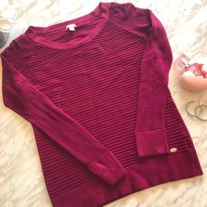 Guess Raspberry Ribbed Sweater Size Extra Small